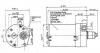 SWF VALEO NIDEC ITT 403.343 spur gear motor 17V DC