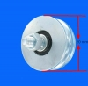 Ø 80 mm wheel with round groove Ø 16 mm half shaft 150 kg load - ask for delivery time