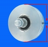 Ø 100 mm wheel with round groove with plug-axis 700 kg load-carrying