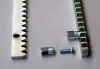 Toothed rack module 4 of stainless steel zinc plated 30 x 12 mm, 1 m long