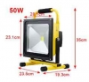 LED battery construction spotlights 50 Watt with stand